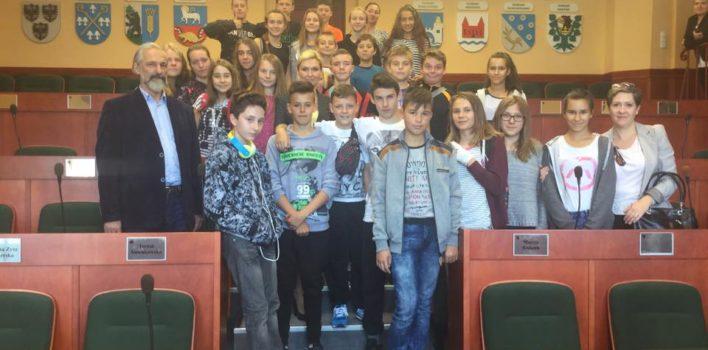 Odwiedziny młodzieży zGimnazjum nr2 zGiżycka