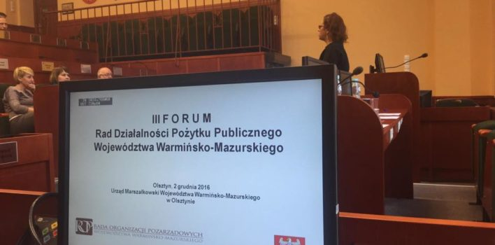Forum Rad Działalności Pożytku Publicznego – 2.12.2016r.