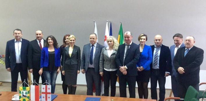 Podpisanie porozumienia owspółpracy zgruzińską gminą Gori – 8.12.2016r.
