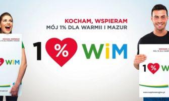 """Samorząd województwa wramach akcji """"Wspieram Region"""" promuje przekazywanie 1 procenta podatku dochodowego odosób fizycznych organizacjom pożytku publicznego zwarmińsko-mazurskiego."""