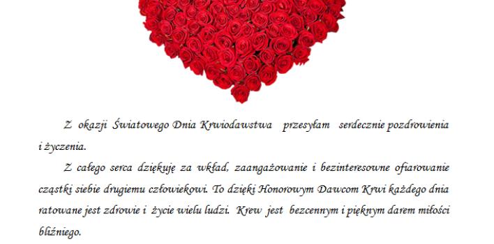 Światowy Dzień Krwiodawcy :)