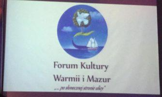 Forum Kultury Warmii iMazur podegidą Marszałka Województwa Warmińsko-Mazurskiego Gustawa Marka Brzezina.